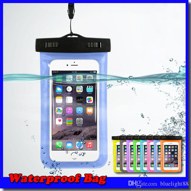 ماء برهان حقيبة حقيبة المياه شارة الحقيبة غطاء لحالة العالمي الحالات دليل على المياه عن الهاتف الخليوي شحن مجاني