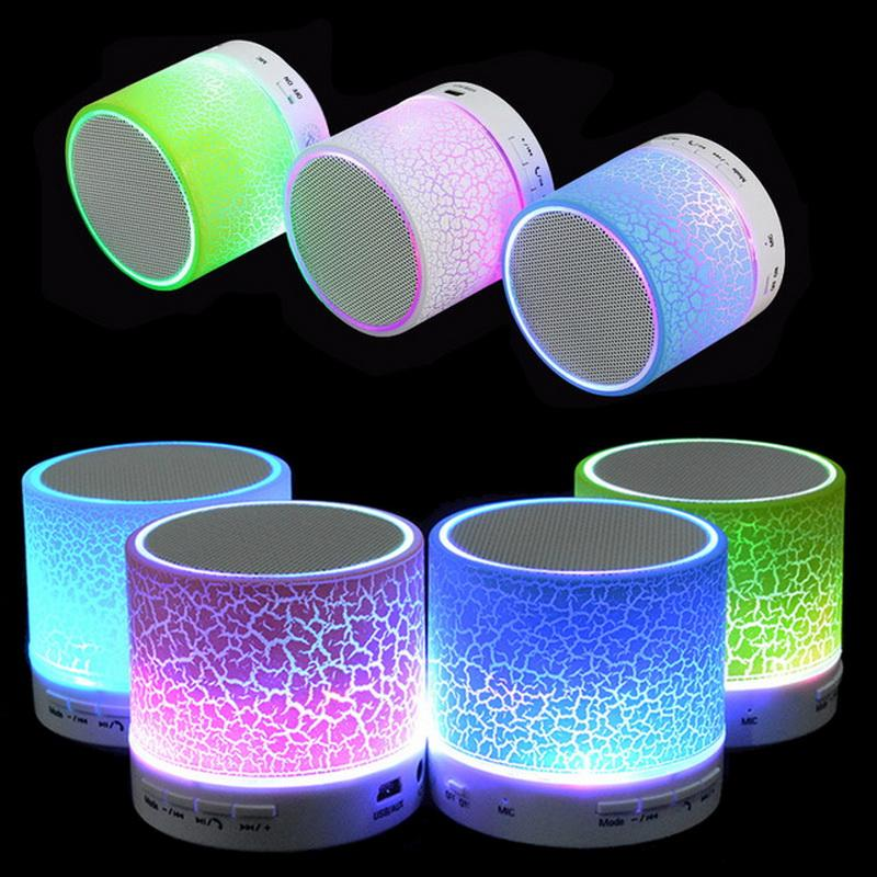 Portable Mini Flashing LED Bluetooth Speakers A9 Wireless Small Music Audio TF USB FM Stereo Sound Speaker For Mobile Phone Player 30PCS
