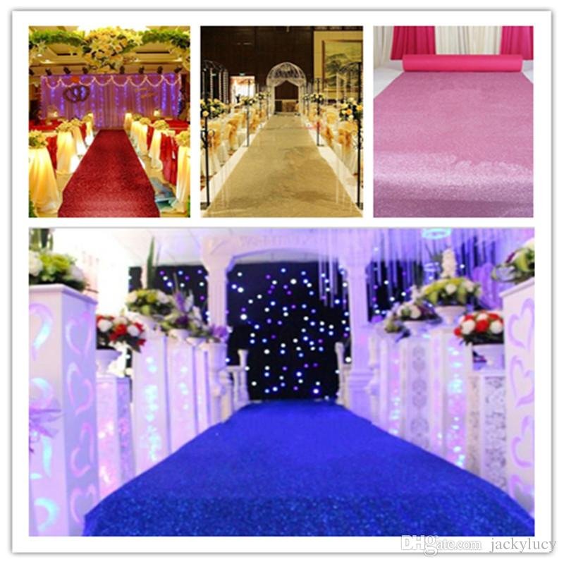 Free Shipping Fashion Wedding Decor Pearlescent Carpet 1.2 m Wide Shiny Aisle Runner For Festival Wedding Decoration Props
