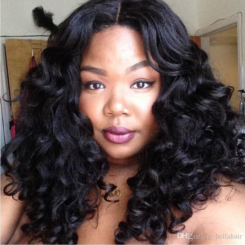 Brazilian Human Hair Lace Wigs for Black Women Curly Weaves Lace Front Wigs More Thick Density 150% Medium Cap Bellahair 8A