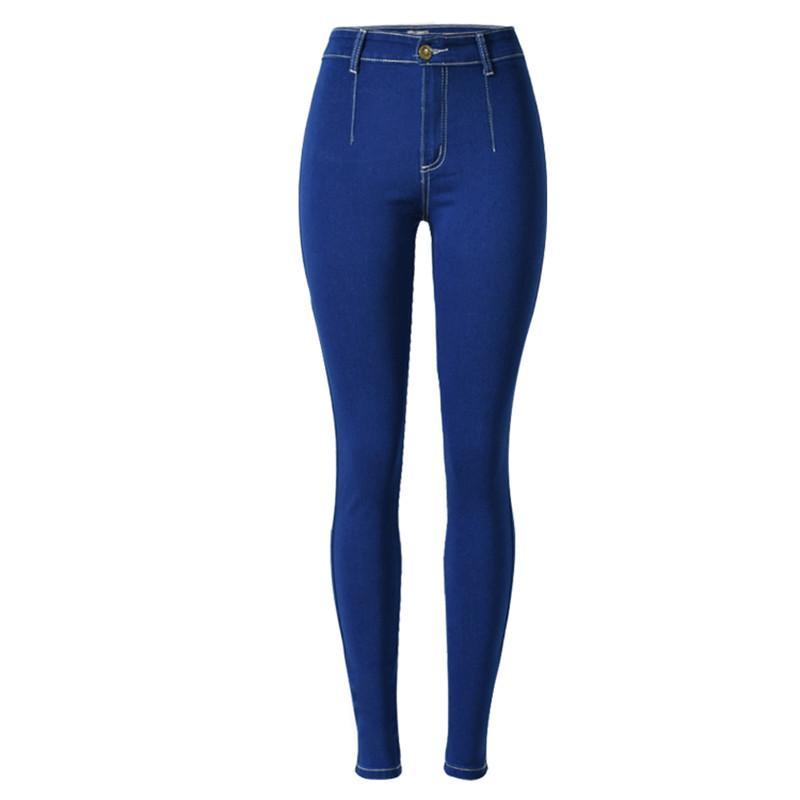 Toptan-Kadın Kalem Pantolon Denim Jeans Ince Mujer Artı Boyutu Streç Kişilik Kot Kadın Yüksek Bel Skinny