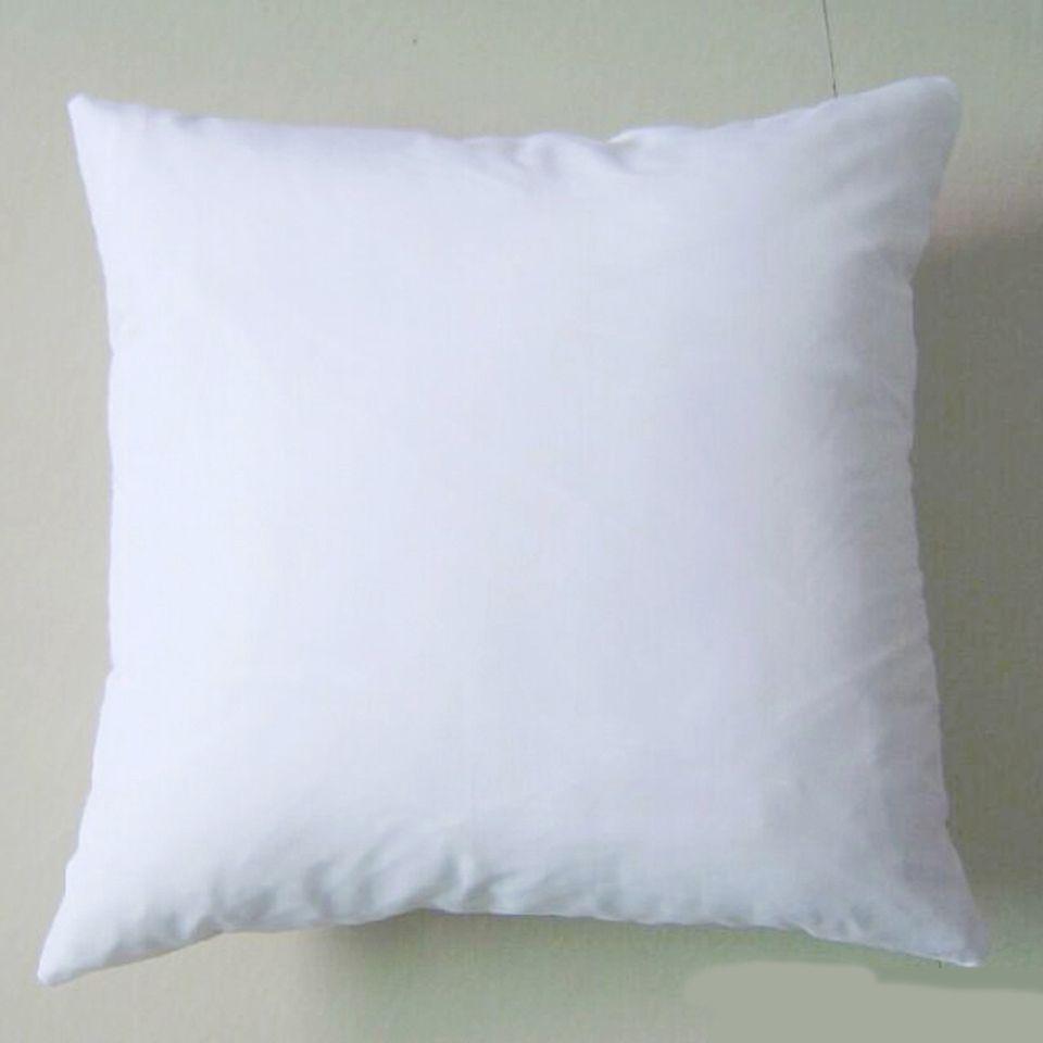 (50pcs / lot) 일반 흰색 DIY 공백 승화 베개의 경우 폴리 베개 커버 150gsm 패브릭 DIY 인쇄 / 페인트 40cm 스퀘어 화이트 베개 커버