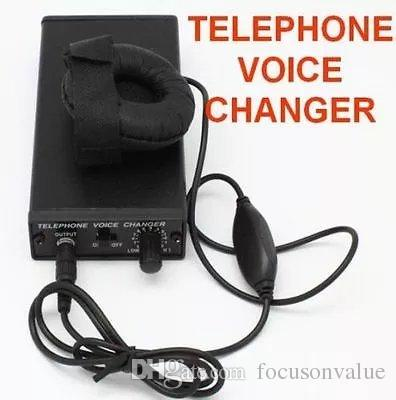 Newest telephone voice changer Professional voice Disguiser Phone Transformer Changer televoicer handheld Change Voice Gadgets black