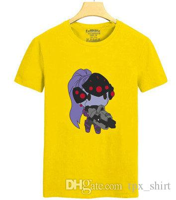 Widowmaker T shirt Woman killer short sleeve gown Game Amelie Lacroix tees Leisure unisex clothing Quality cotton Tshirt