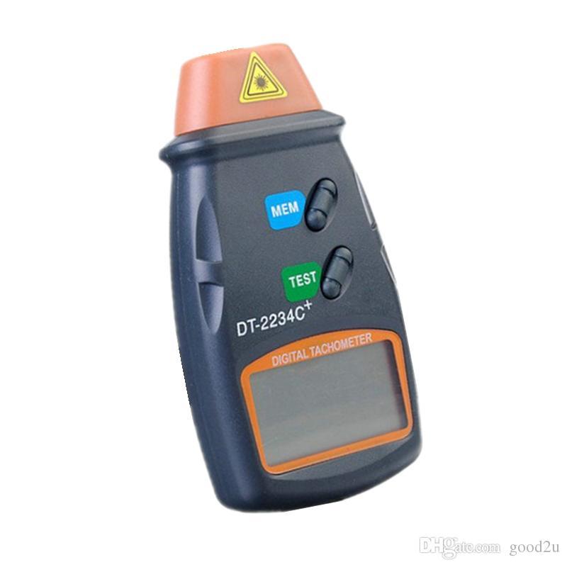 도매 DT-2234C + 비 접촉 LCD 디지털 레이저 타코미터 2.5-99,999 RPM 광속 속도 측정기