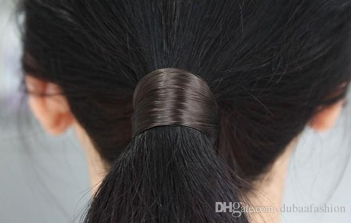 Acheter Femme Faux Cheveux Bandeaux Style Coréen élastique Accessoires Cheveux Synthétiques Perruque Queue De Cheval Titulaire Scrunchie Couvre Chef De 0 19 Du Dubaafashion Dhgate Com