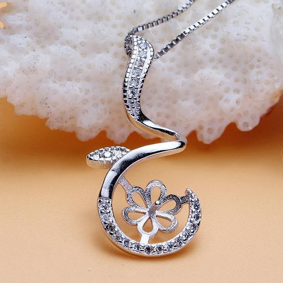 Heißer Verkaufs-eingelegter Zirkon natürliche Perlen-hängende Halsketten-Großhandelszusatz DZ0032