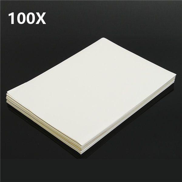 100pcs A4 blanc mat auto-adhésif autocollant feuille de papier étiquette laser jet d'encre impression