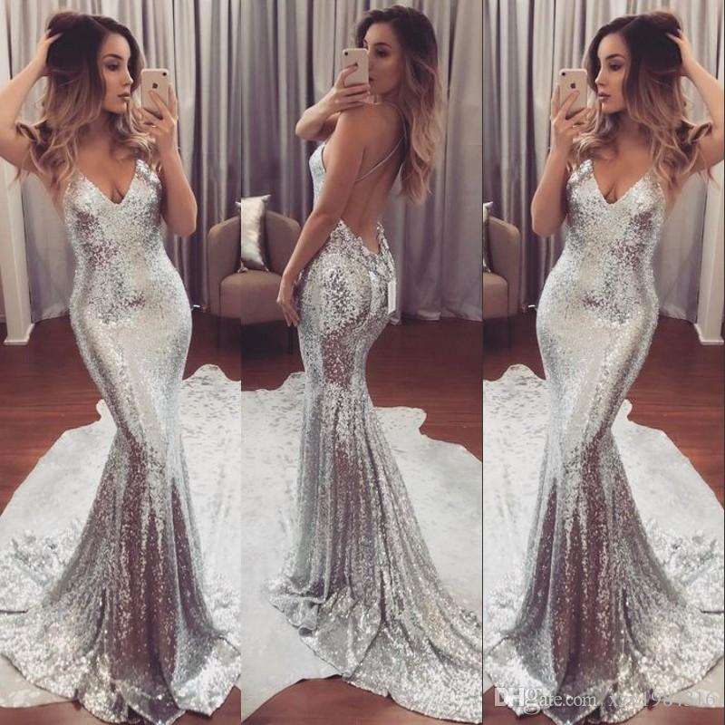 Amazing Silver Evening Dress