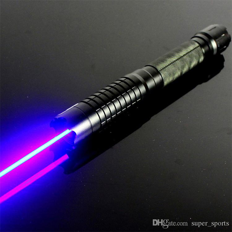 Strong high power focus blue laser pointers 450nm class 4 powerful Lazer+5 star caps+changer+box Free Shipping