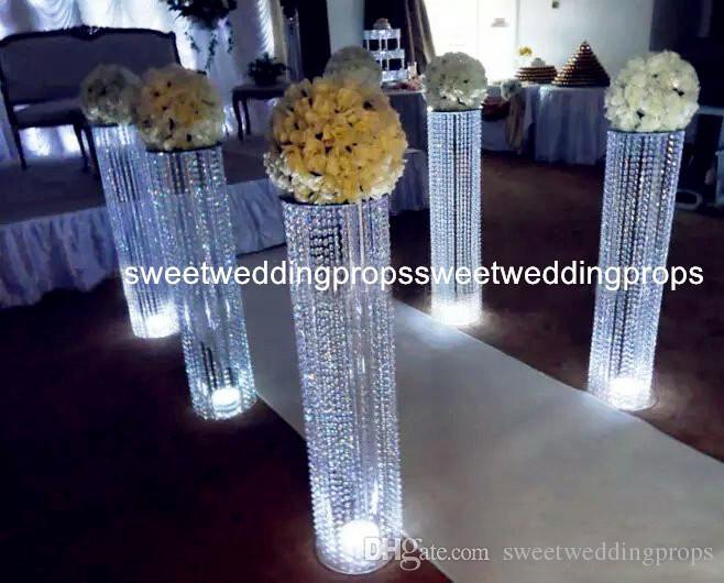 아니 꽃 등) WeddingBanquet 장식 럭셔리 우아한 가짜 PIllar 장미 꽃, 웨딩 호의에 대한