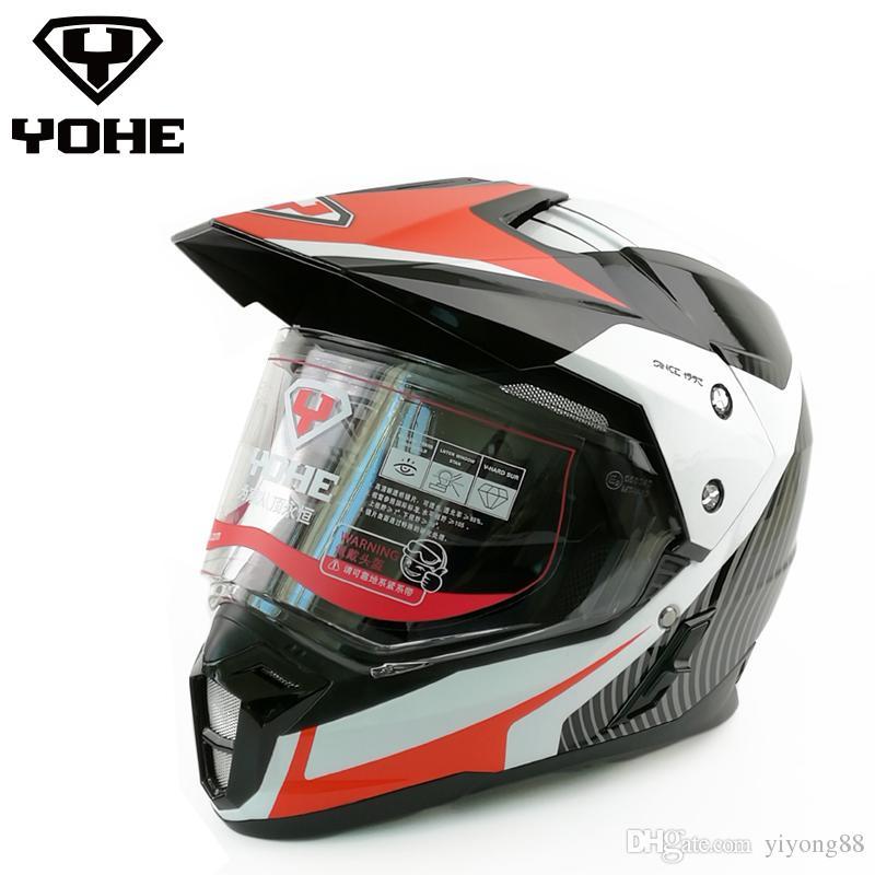 New helmet YOHE 628 motocross capacete motorcycle double lenses helmet 100% Genuine DOT standard free shipping