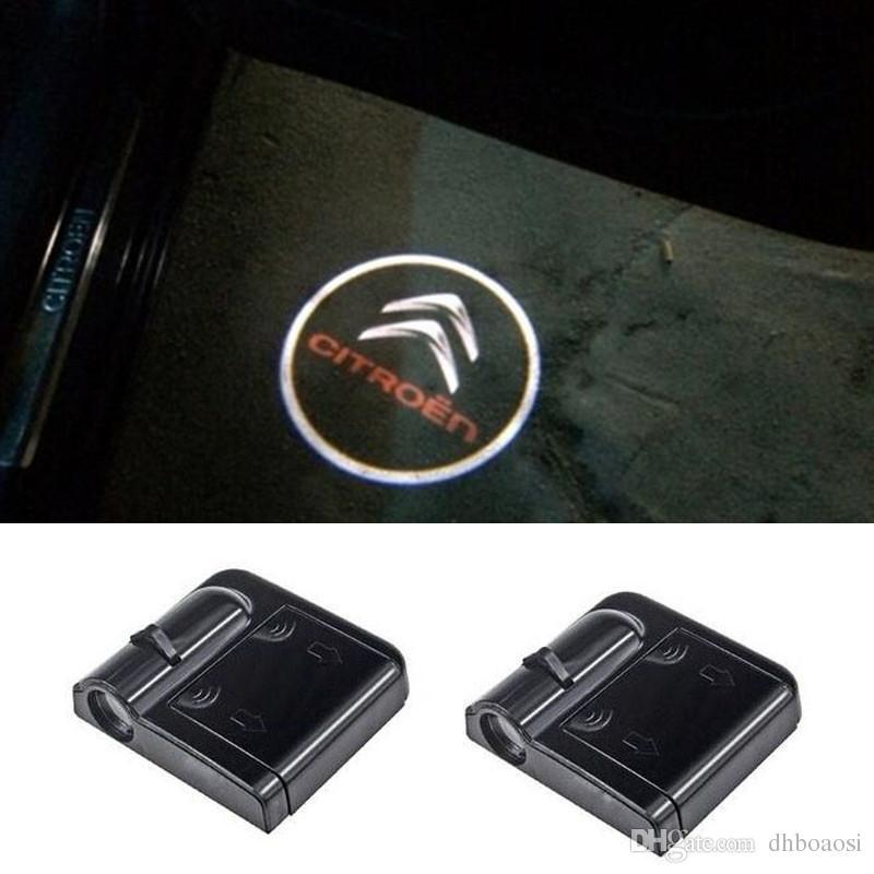 Porta Do Carro LEVOU Logotipo Luzes Do Projetor Laser Para Citroen C4 Aux C3 C5 C2 C1 Saxo Berlingo Xantara Xsara 2 picasso DS3 C4L C8