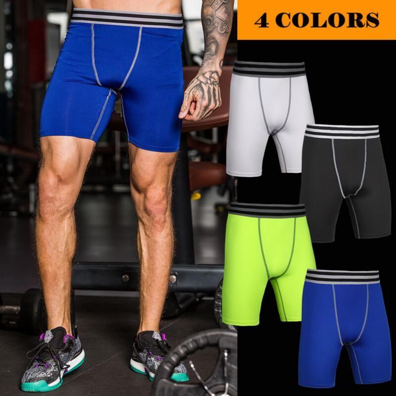 Hombres Pantalones cortos de compresión Medias Ropa interior Correr Ejercicio Fitness Gimnasio Fútbol Baloncesto Pantalones cortos de secado rápido Envío gratuito