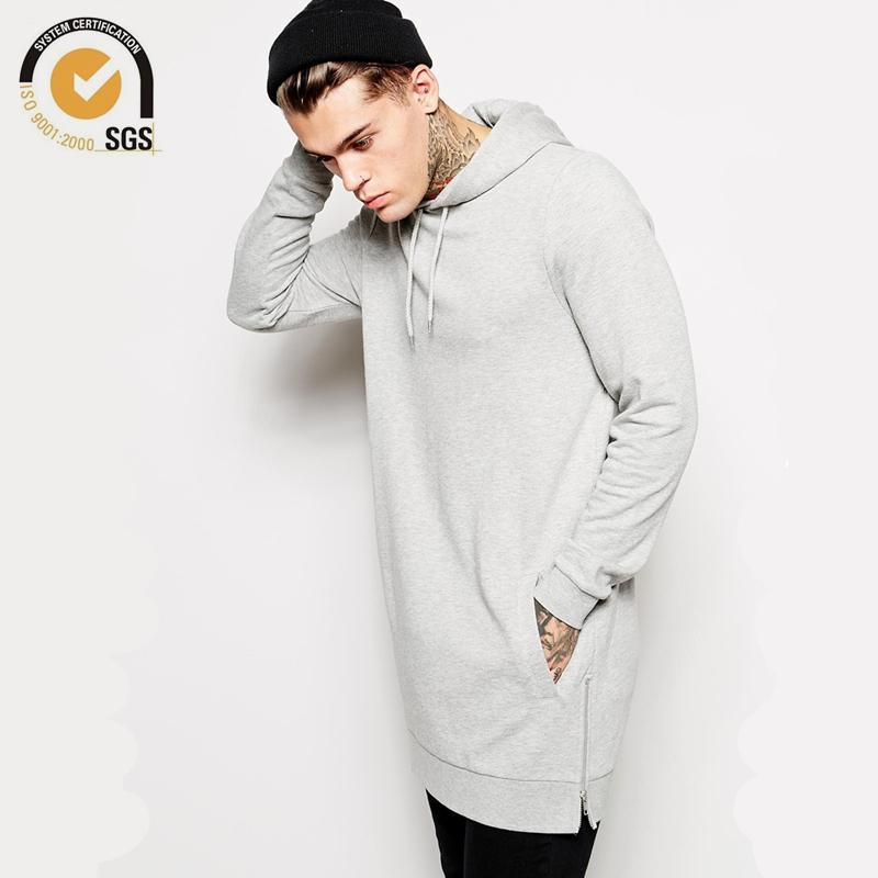 Toptan-Yeni Streetwear Giyim Erkek Longline Hoodie Boy Hoodies Hip Hop Uzun Hoodie Erkekler Yan Fermuar Hoodie Ücretsiz Kargo