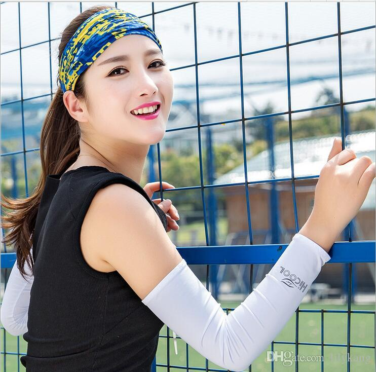 Hicool refroidissement manches sport unisexe Sun Block Anti UV Protection Manches conduite ArmSleeve Couvre manches bras de sports de plein air