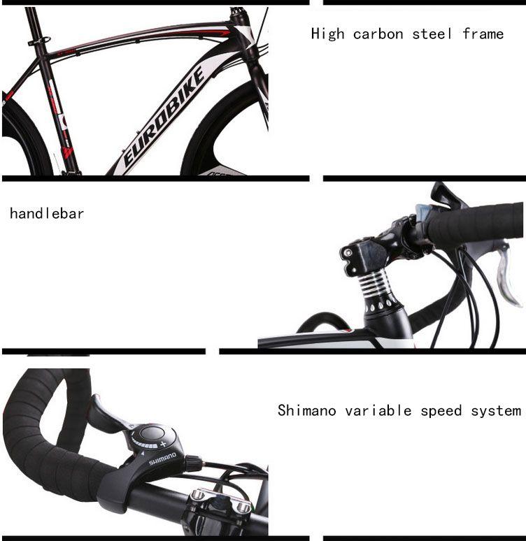 Eurobike 700*49 Cm Steel Bicycle Xc550 Road Bike 21 Speed Racing ...