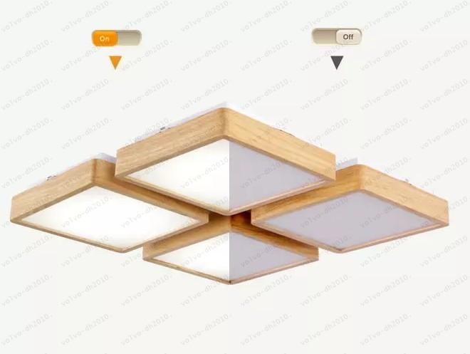 New Creative OAK Moderne LED Deckenleuchten Fr Wohnzimmer Schlafzimmer Lamara Techo Holz Fhrte Deckenleuchte Leuchten Luminaria