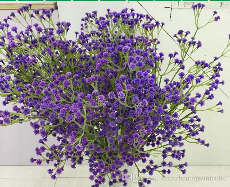flor do casamento babysbreath flor artificial bouquet de noiva mão decoração de casa sorte flor
