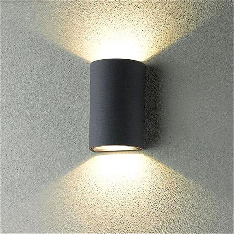 Waterproof COB LED Wall Light Up Down Sconce Lighting Modern Aisle Lamp 6W @TP