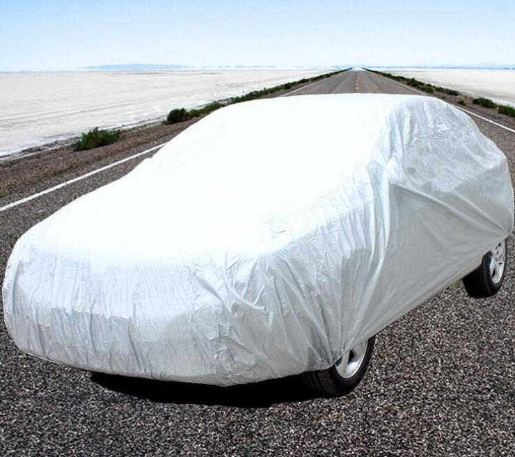 Kapalı Açık Tam Araba Kapak tek katlı Güneş UV Kar Toz Dayanıklı Koruma Boyutu S M L XL XXL PEVA malzeme