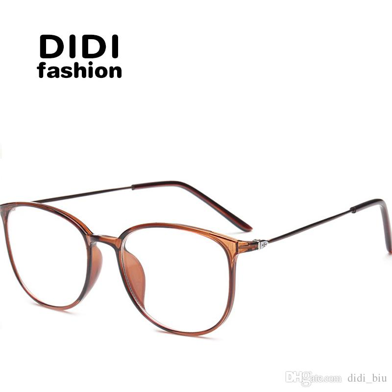9562df3129 DIDI Plastic Titanium Clear Glasses Women Men Leopard Print Thin Frame  Trasparent Eyeglasses Optical Prescription Frames TR90 Lunette U582