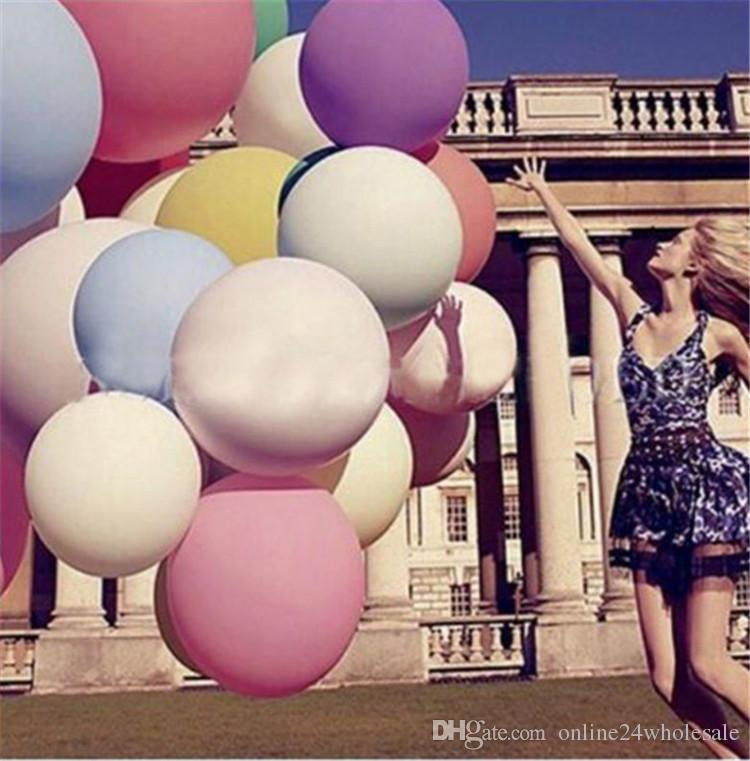 """1 PCS Decoração Do Casamento18 """"45 CM Gigante Hélio Grande Balão De Látex Partido Grande Balões Gigantes Decoração festa de casamento Balões"""