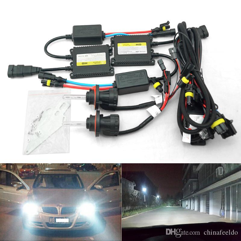 35W AC Car Headlight H13 HID Xenon Bulb Hi/Lo Beam Bi-Xenon Bulb Light Digital Slim Ballast HID Kit #4534