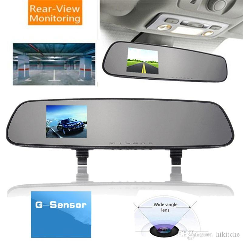 hkt28 2.4 بوصة 1080 وعاء hd كاميرا الرؤية الخلفية مرآة مركبة مسجل فيديو سيارة dvr للرؤية الليلية داش كاميرا