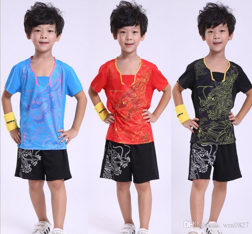 Free shipping Children badminton shirts shorts,ping pong camiseta Quick-drying Sport Jersey,men table tennis sportwear sets,tennis jersey