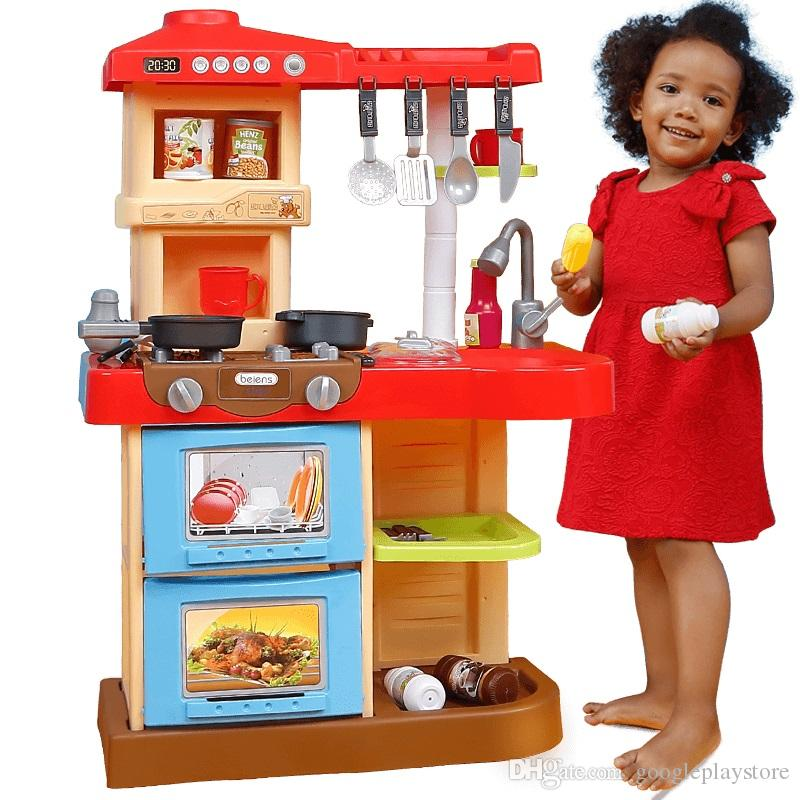 2019 Beiens Brand Toys Kids Kitchen Set Children Kitchen Toys Large Kitchen  Cooking Simulation Model Play Toy For Girl Baby From Googleplaystore, ...
