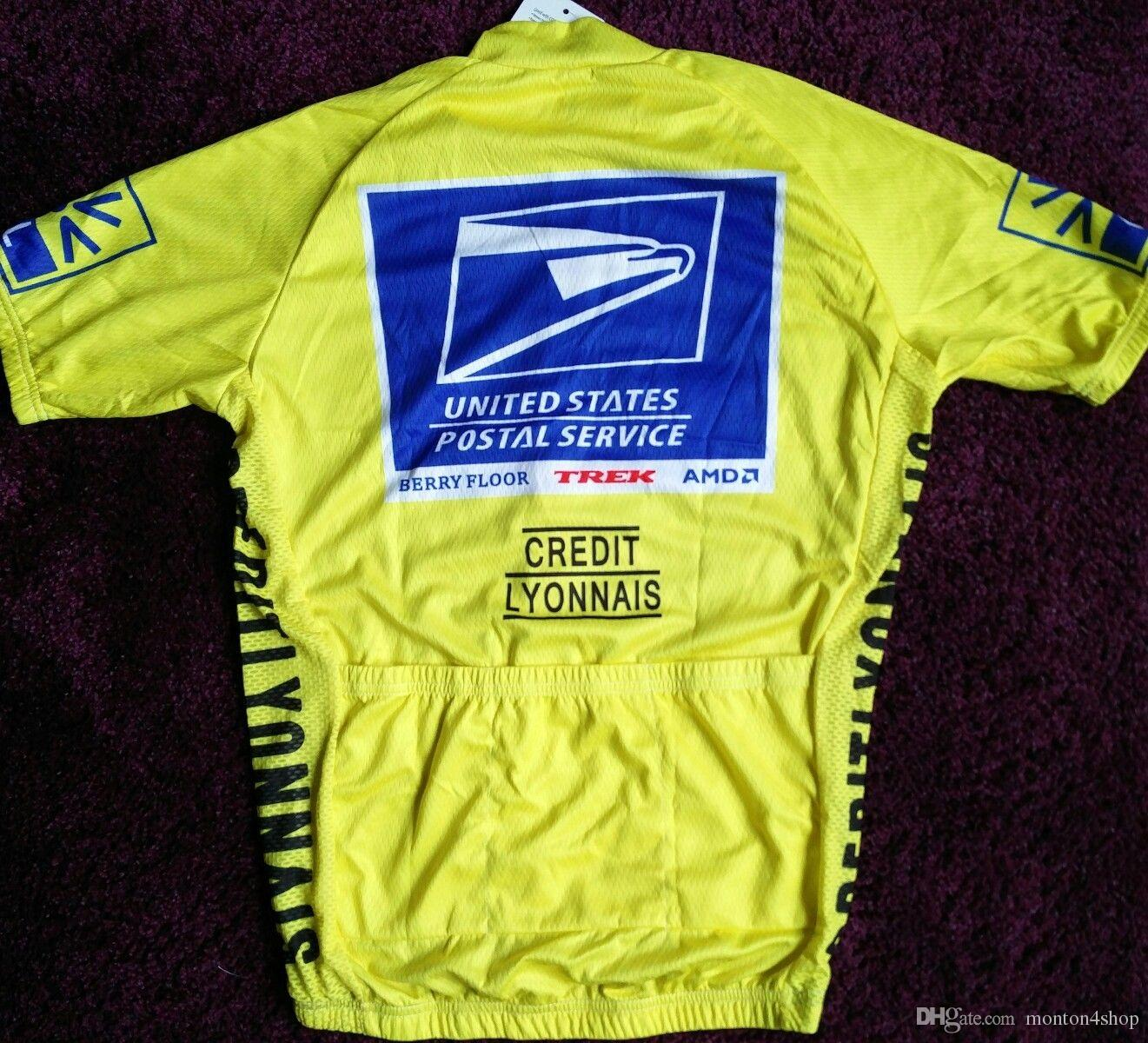 USPS US Postal Service Cycling Jersey Shirt Retro Bike Ropa Ciclismo MTB Maillot