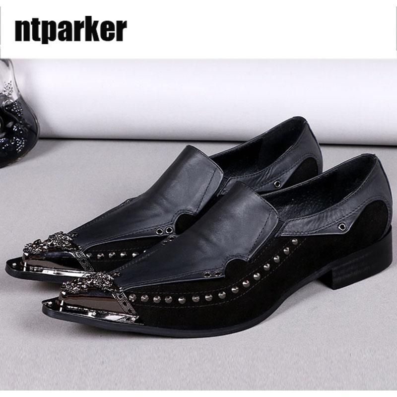 Scarpe da uomo in pelle da uomo nere Scarpe oxford in pelle da uomo Scarpe da uomo, affari e da festa zapatos de hombre, taglia grande EU38-46