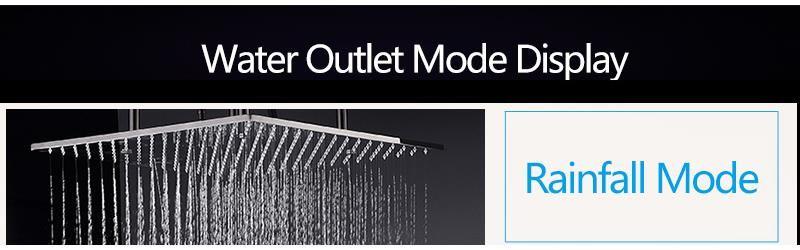 hm Bathroom Shower Head with 4 Ways SUS304 20inch Rain & Mist & Brass Slide Bar & Brass Spout & Brass Handheld Shower Set (7)