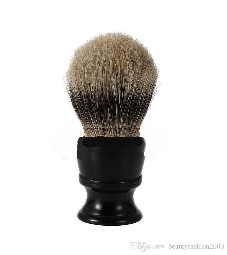 فراجين حلاقة الحلاقة فرشاة 100٪ البحتة الأسود بادجر الشعر الرطب فرشاة حلاقة أفضل الحلاقة الرجالي هدية حلاقة للرجال