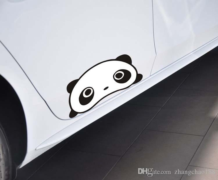 1pc Automóvil Accesorio Exterior Panda Pegatinas de Coche 25 cm * 12 cm Panda de Dibujos Animados Etiqueta Engomada de Coche Divertido Panda Auto Supplies