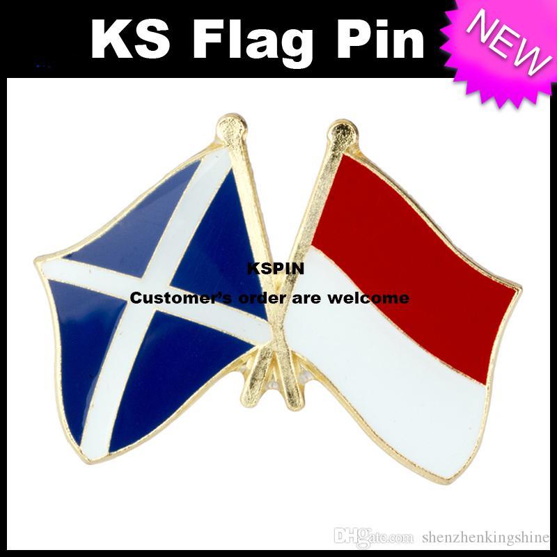Ecosse Indonésie Drapeau Badge Drapeau 10pcs beaucoup Expédition gratuite XY0088-1