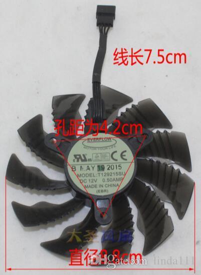GIGABYTE GTX960 / 970 0.5A 0.5A 12 V T129215SU 4 satır sıcaklık kontrol kartı fanı