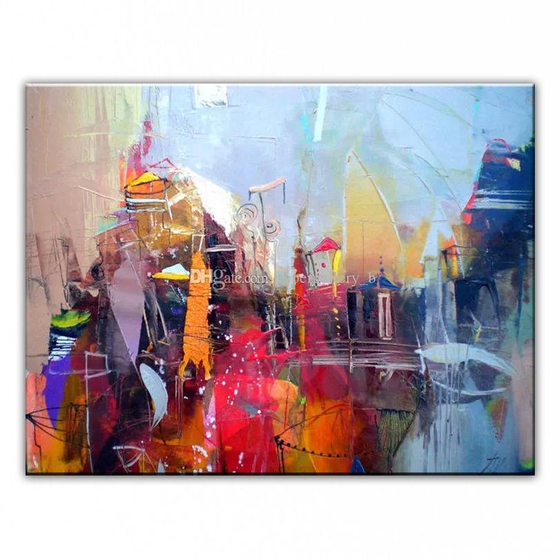 Framed Fmaous Handpainted Modern Abstract Landscape Art oil painting On High Quality Canvas Home Wall Decor size can be customized