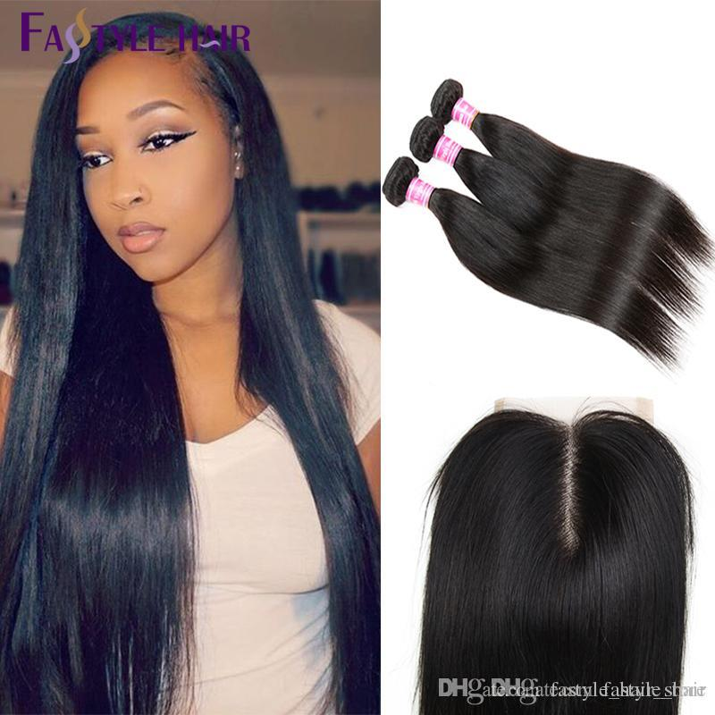 New Arrivals Wholesale Peruvian Straight 3 Extension Bundles With Lace Closure UNPROCESSED Peruvian Malaysian Indian Virgin Human Hair Wefts