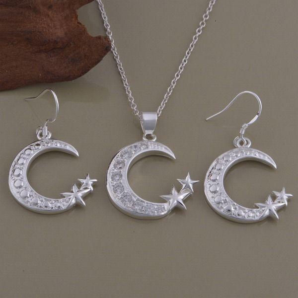 Collana di orecchini adicolo placcati argento 925 Set Xingyue katami commercio all'ingrosso