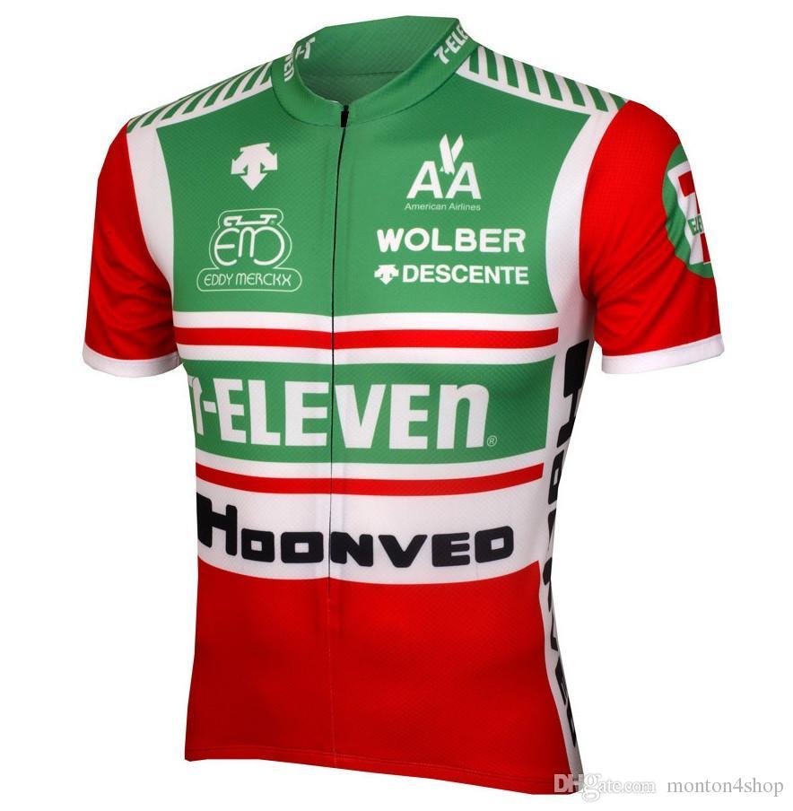2019 Summer man team verde camisetas de ciclismo de secado rápido / ropa de bicicleta ropa de ciclismo ropa ciclismo maillot transpirable confort