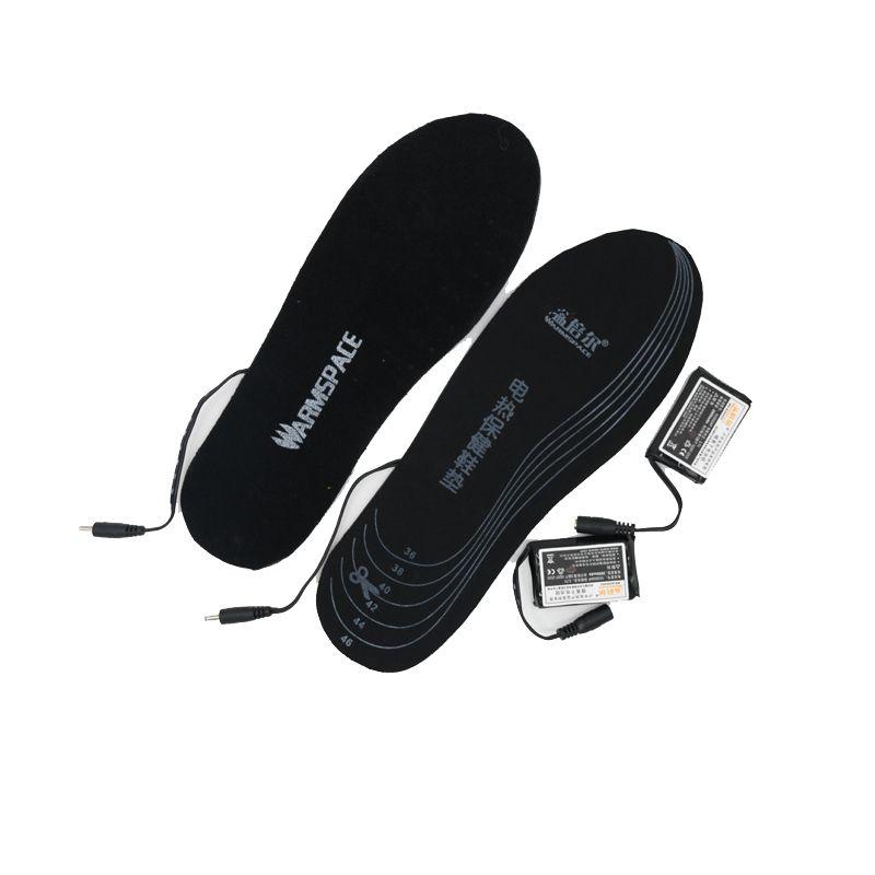 Toptan-WARMSPACE Pil Isıtmalı Tabanlık 3.7 V 2000 MAH Elektrikli Isınma Ayakkabıları Ped Isıtma Astarı Kış Için