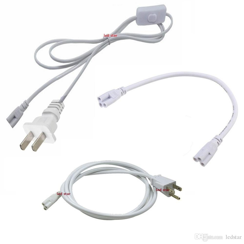 T5 T8-Anschlusskabel 2ft 3ft 4ft 5ft 6ft Verlängerungskabel Schalter für integrierte Led-Schlauch-Stromkabel mit US-Stecker