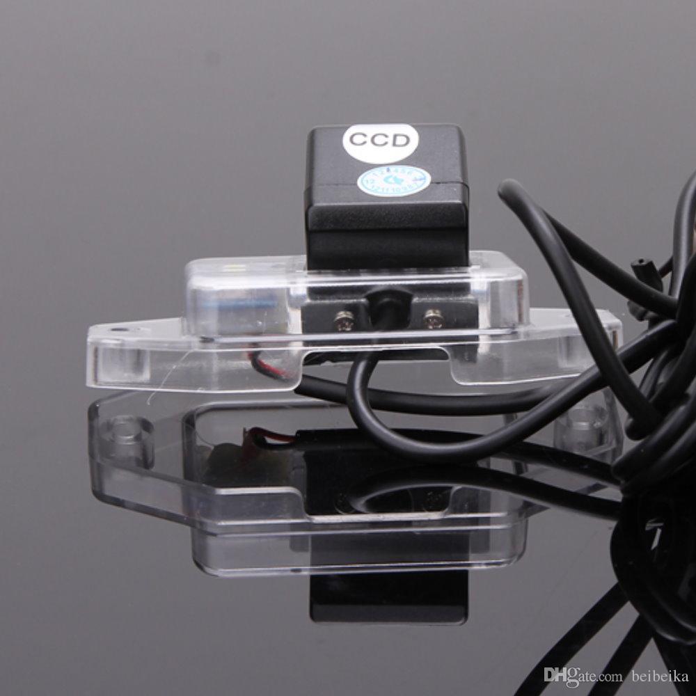 HD Car CCD RCA NTST Luz Da Placa de Licença OEM / Câmera de Visão Traseira Para TOYOTA Prado Fácil Países Médio (Roda De Reposição Na Porta)
