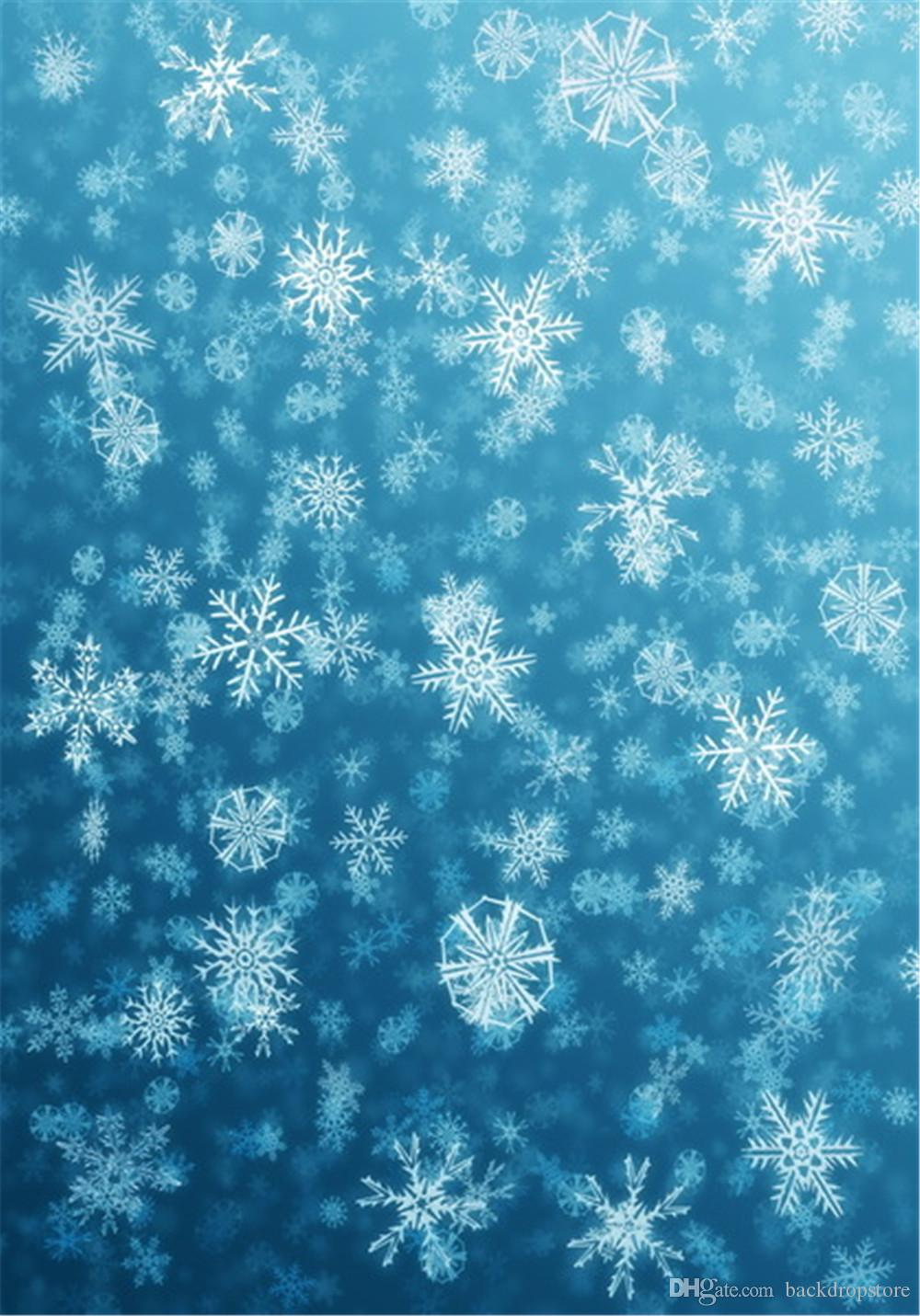 Drukowane Drukowane 3 D Płatek śniegu Tło do fotografii Jasne Niebieskie Niebo Wakacyjne Wakacyjne Dzieci Dzieci Studio Photo Shoot Tle Tapeta