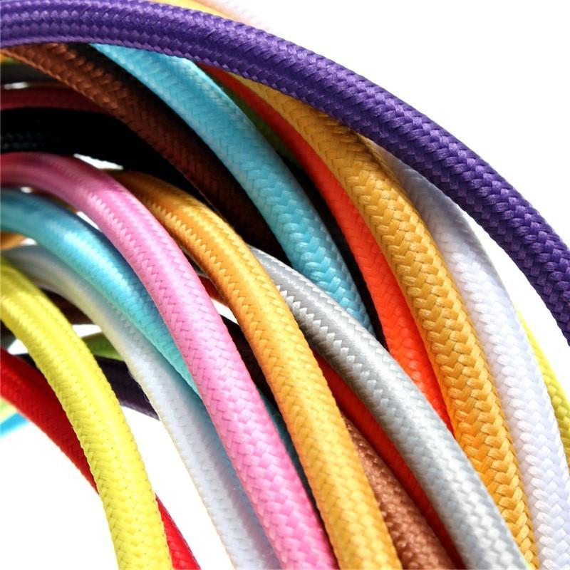 2 * / Alambres Lot Edison Textile Cable Tela cable de la lámpara pendiente de la lámpara 0,75 10M cable trenzado Cloth eléctrico Lámpara de la vendimia Cable