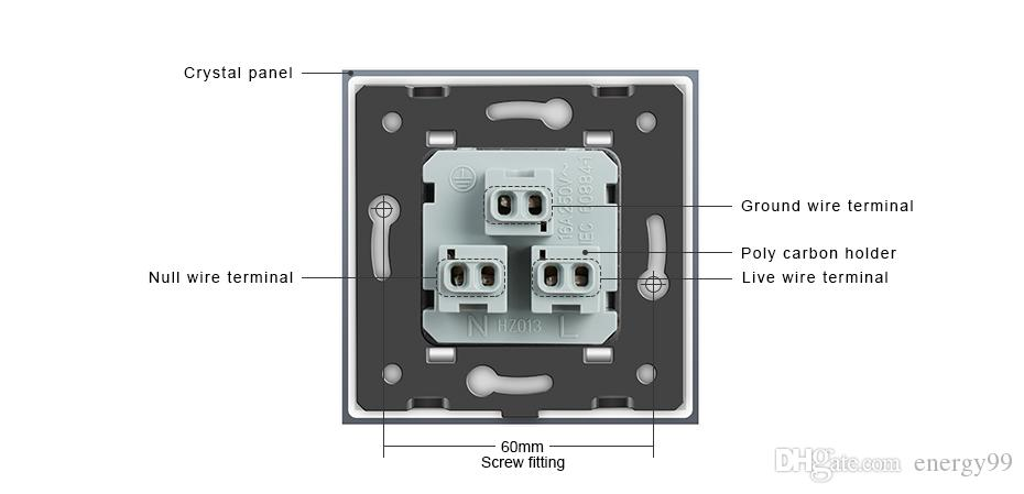 Best Quality Livolo Us Standard Power Socket, White Crystal Glass ...