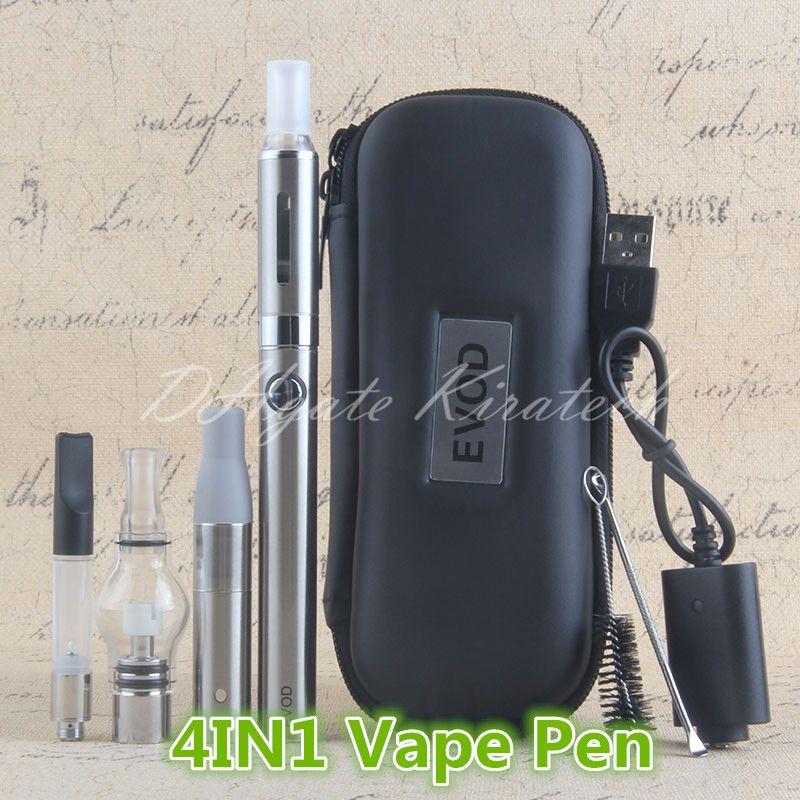 1 шт. 4in1 Ручки Vape Pens Wax Vaporizer Herb Wee Vee Vapes MT3 Eliquid Evod 4 в 1 ECIG Стартовый комплект China Electric