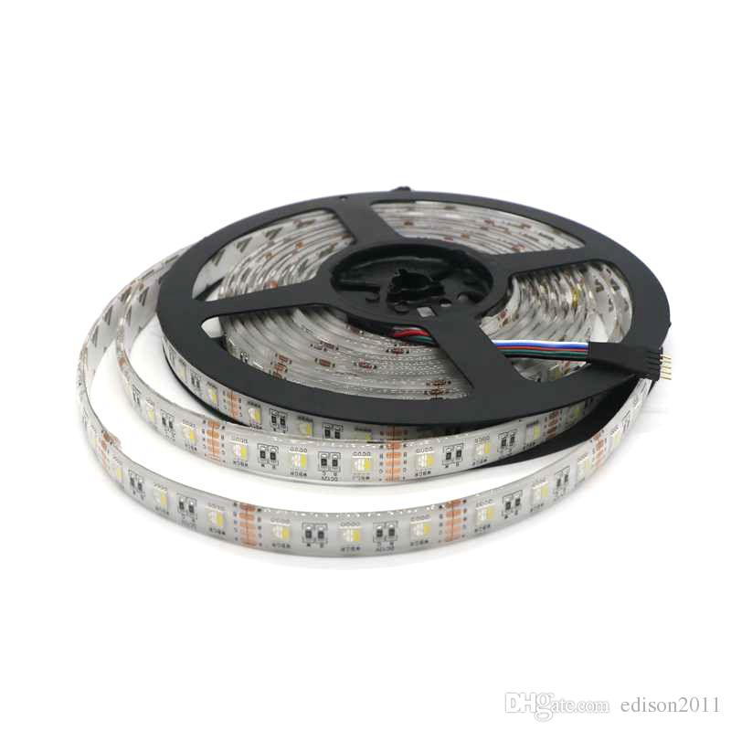 5M / Roll 4 colori in 1 LED SMD 5050 RGBW LED Strip Light RGB + Bianco / Warm White 60leds / m DC 24V Impermeabile IP65